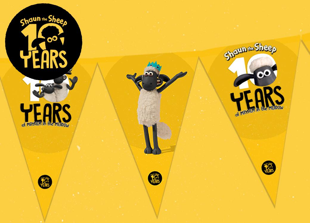 10 Years of Shaun Party Pack: Bunting