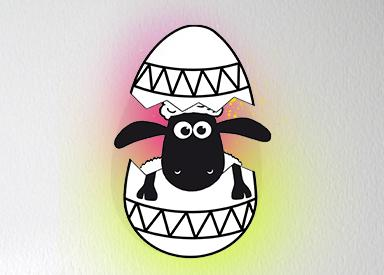 Pop-Up Shaun Egg