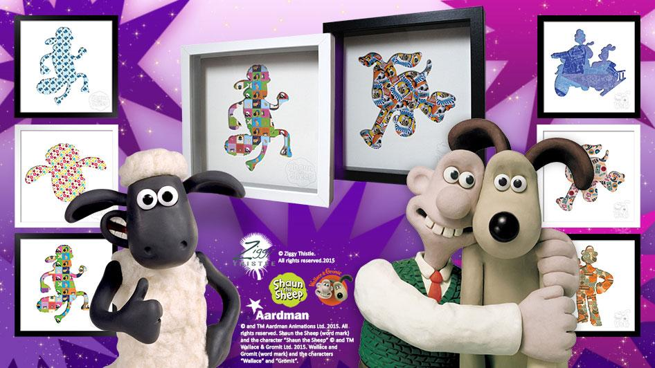 Win a Shaun the Sheep Artwork with Ziggy Thistle!