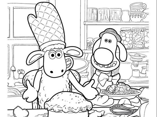 Colour in Shaun & Bitzer