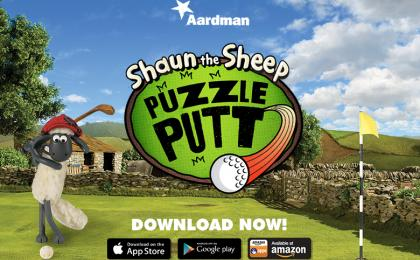 Play Shaun's New Puzzle Putt Game!